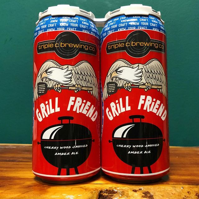 Time to upgrade ya to a baddie! Get U a new Grill Friend from @TripleCBrewing. This Cherry Wood Smoked Amber pairs well with barbecues, pool parties, tailgating, or anything that involves cooking food with charcoal and/or fire. 🤣🍻🥩🍔🌭🌽🍒🔥