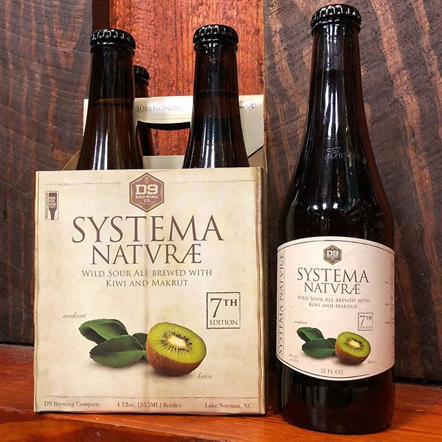 @D9Brewing done done it AGAIN with the 7th Edition of Systema Natvræ! This time around, they gave us a Kiwi & Makrut Sour Ale. We pretty much can't keep this on the shelves, because it sells out with the lightning-like quickness. We don't have many left at the time of this post... So, if you want this delicious nectar, you should also move with the lightning-like quickness! 🍻🥝⚡️🏃‍♂️🏃‍♀️