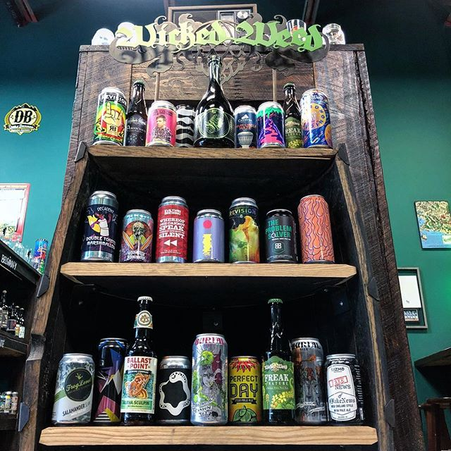 Happy #IPAday! Here are just a few of the beers from our #IPA wall striking a hard style pose for the gram. It's easy to be a #Hoptimist around all this delicious beer. Let's celebrate! 🎊💃🍻🕺🎉
