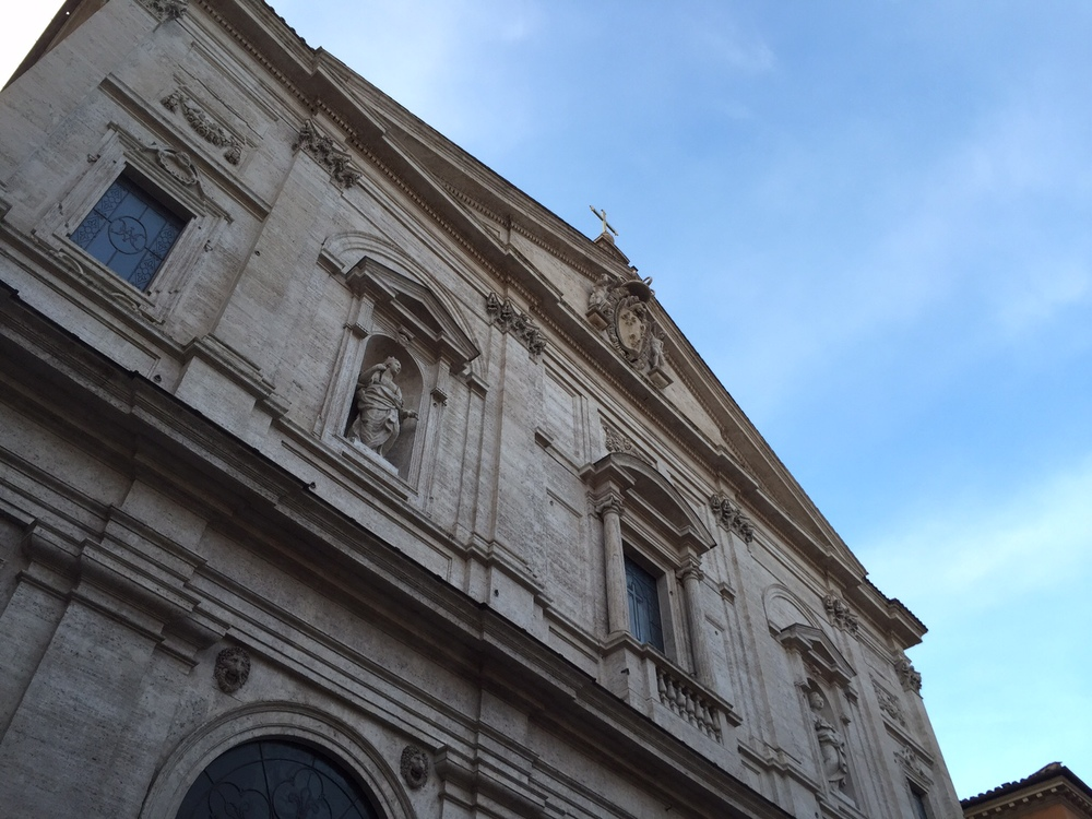Outside of Church of San Luigi dei Francesi. Photo by Max Siskind.