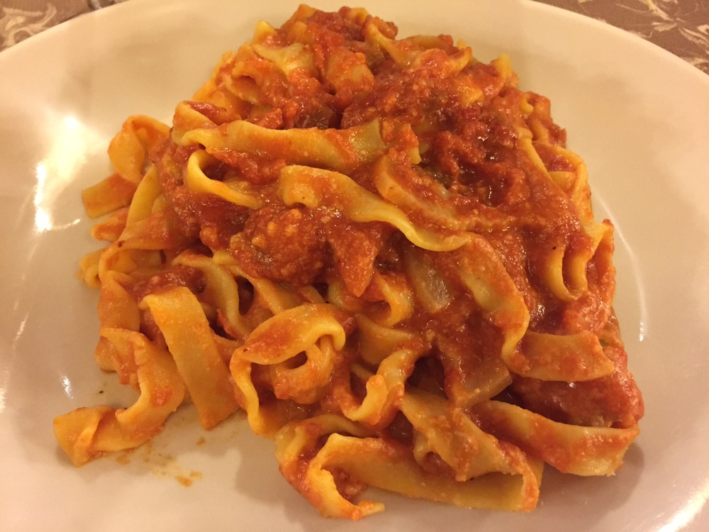 Pasta from Ristorante da Massi. Danktown, USA. Photo by Max Siskind.