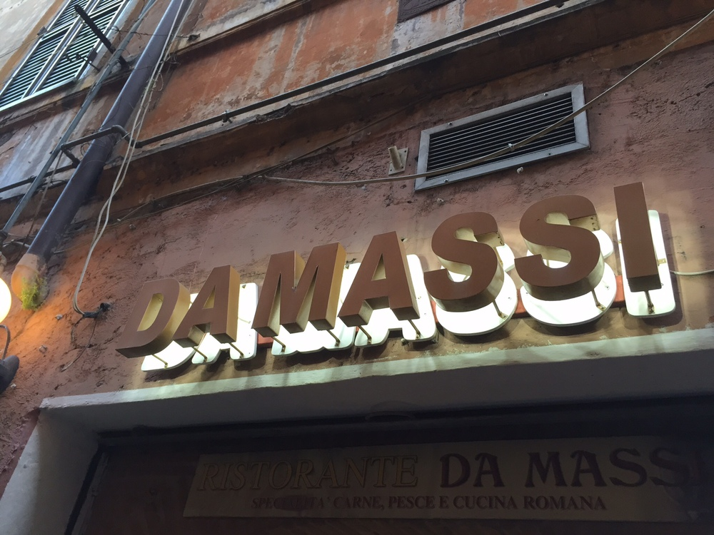 Outside of Ristorante Da Massi. Good spot to stumble into for some pasta. Photo by Max Siskind.