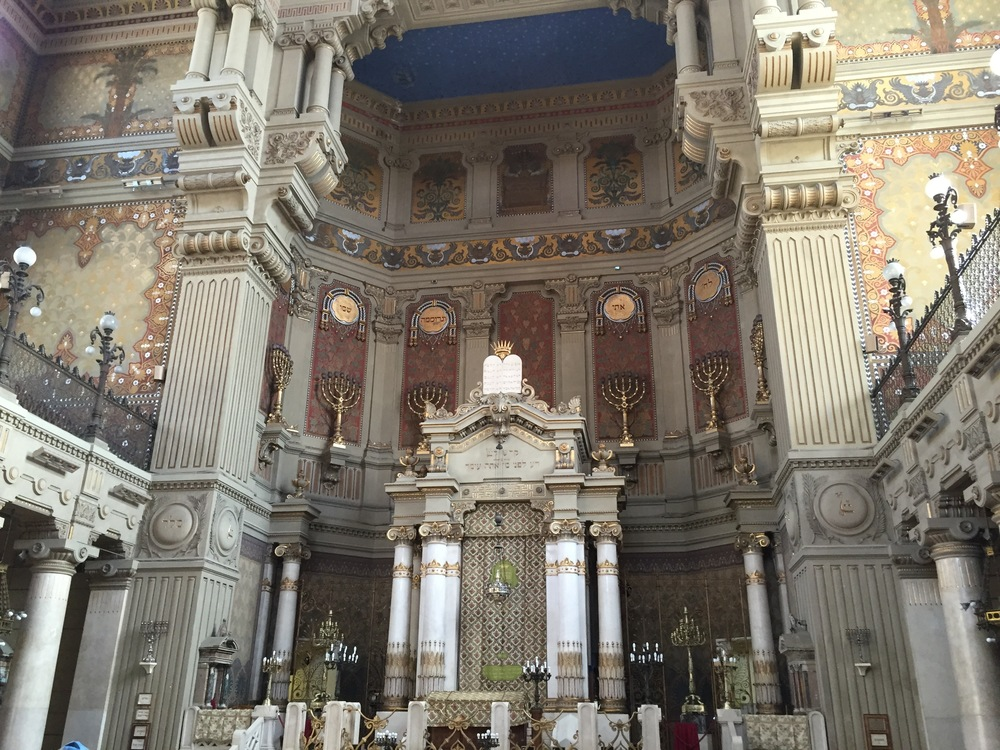 Inside the main synagogue in the Jewish Quarter in Rome. Absolutely stunning. Photo by Max Siskind.