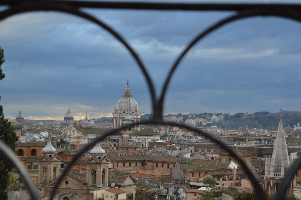 Artsy shot through the fence at Villa Borghese. Still an awesome view of the city if you as me. Photo by Max Siskind.