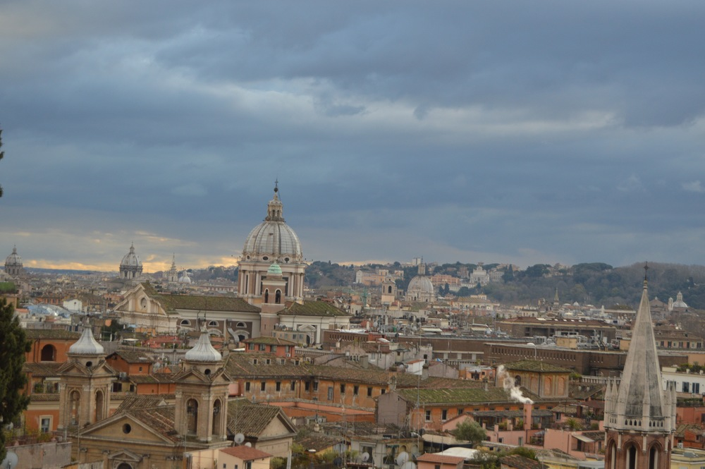 My favorite photo of the view from Villa Borghese. Photo by Max Siskind.