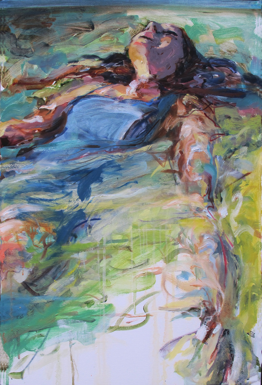 "Floating 6  2014 Oil on canvas  36"" x 24"""