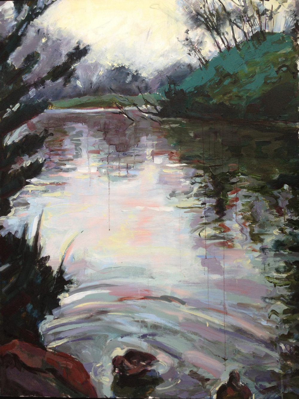 "Stow Lake 3  2013 Oil on canvas 54"" x 41"""
