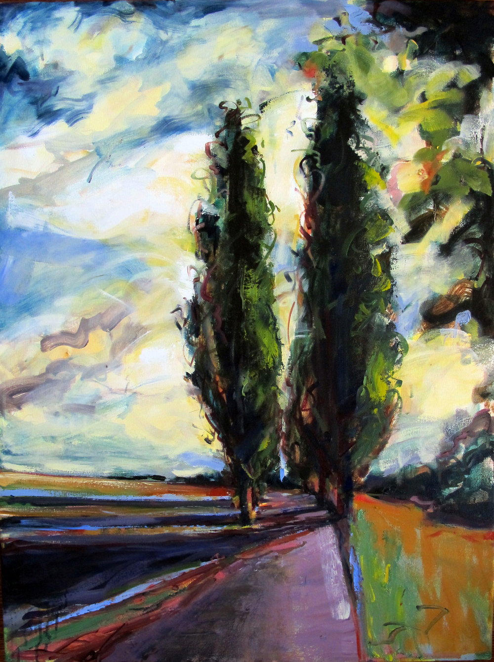 "Cypress 2  2014 Oil on canvas 40"" x 30"""