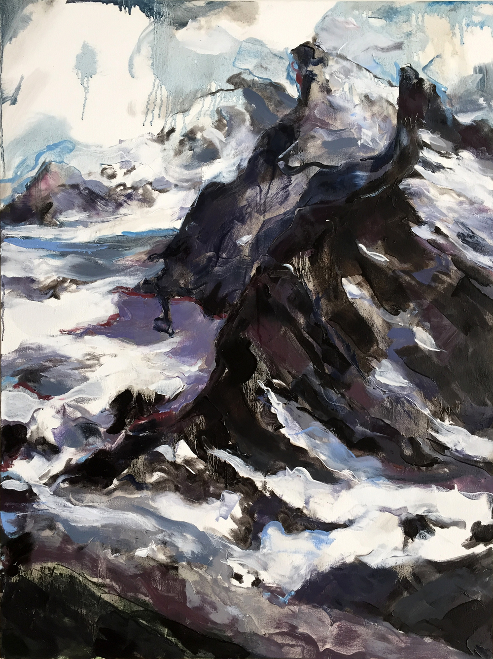 "Jungfrau 1  2015 Oil on canvas 40"" x 30"""