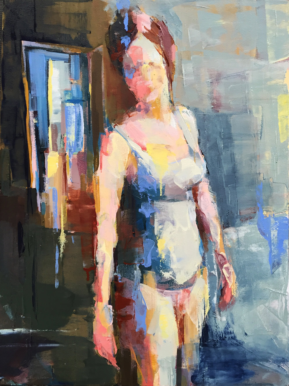 "Pine Street  2016 Oil on canvas 30"" x 24"""