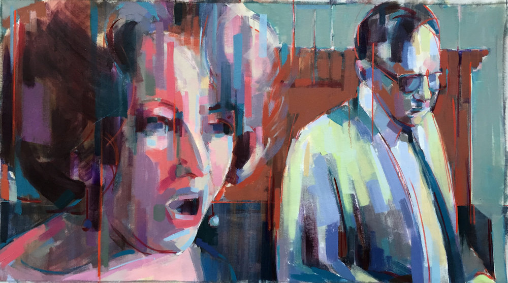 "Snap  2017 Oil on canvas 27"" x 48"""