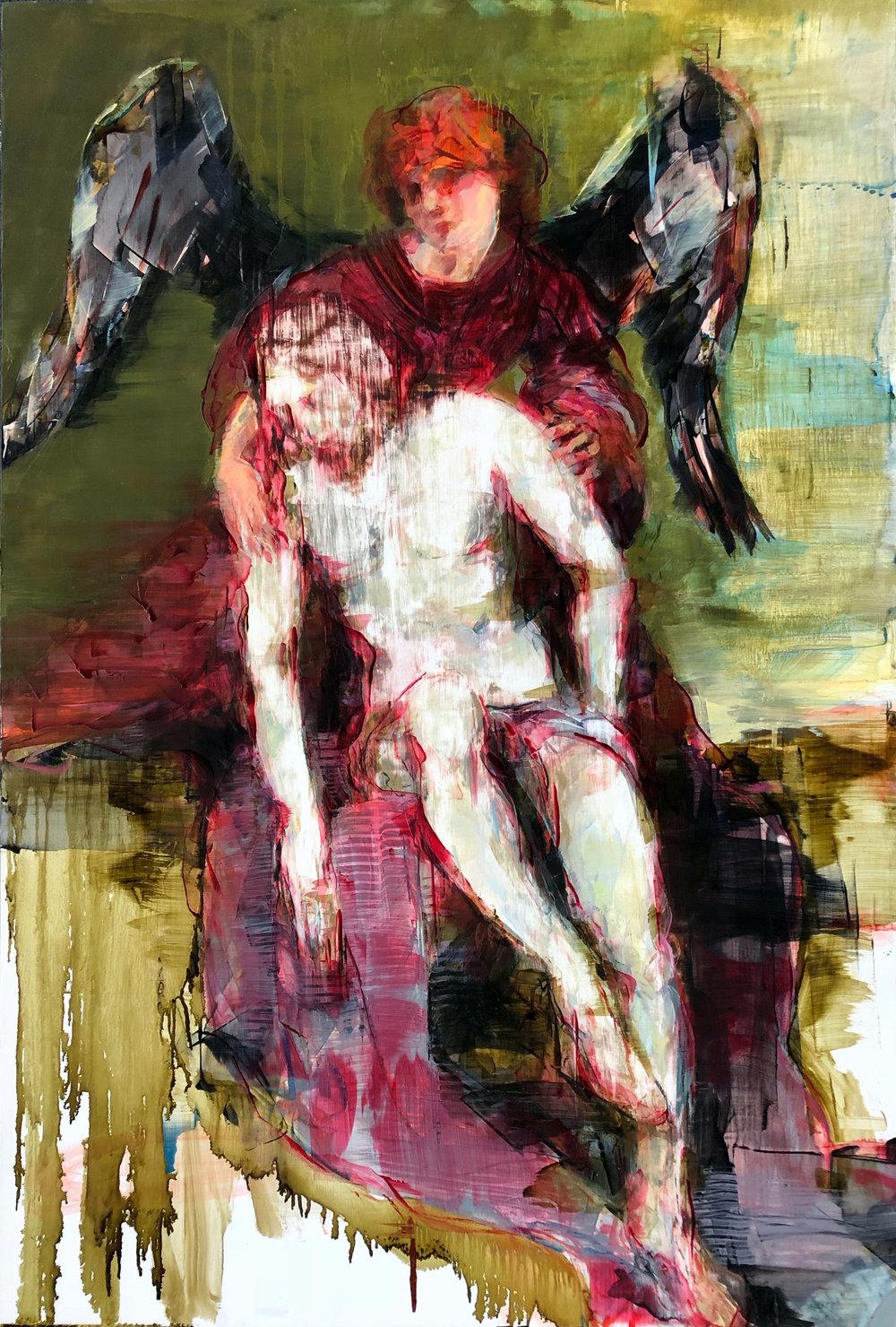 "Seraphim  2018 Oil on canvas 40"" x 27"""