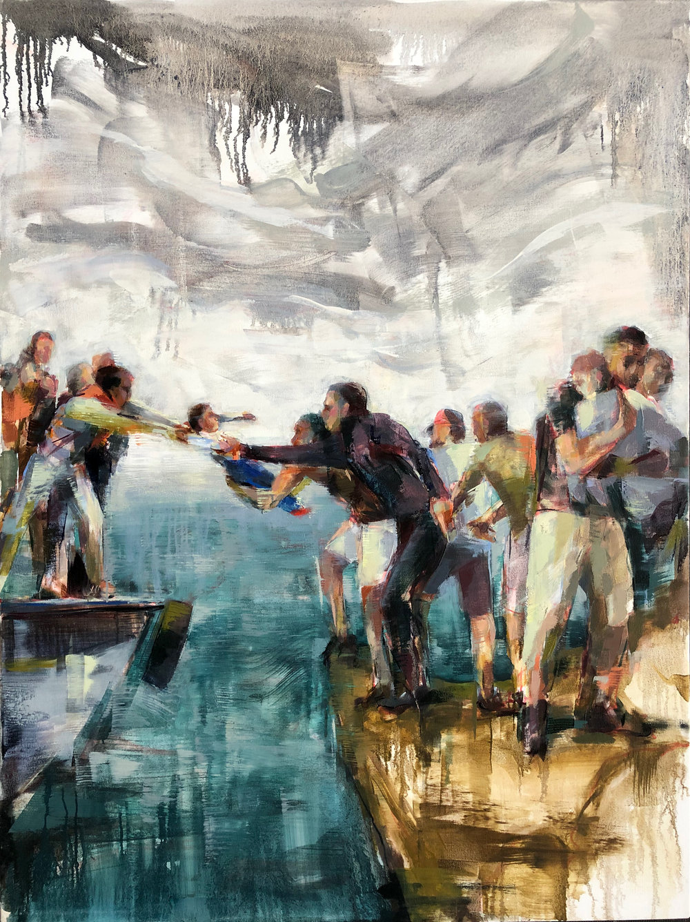 "Crossing the Aegean  2019 Oil on canvas 48"" x 36"""