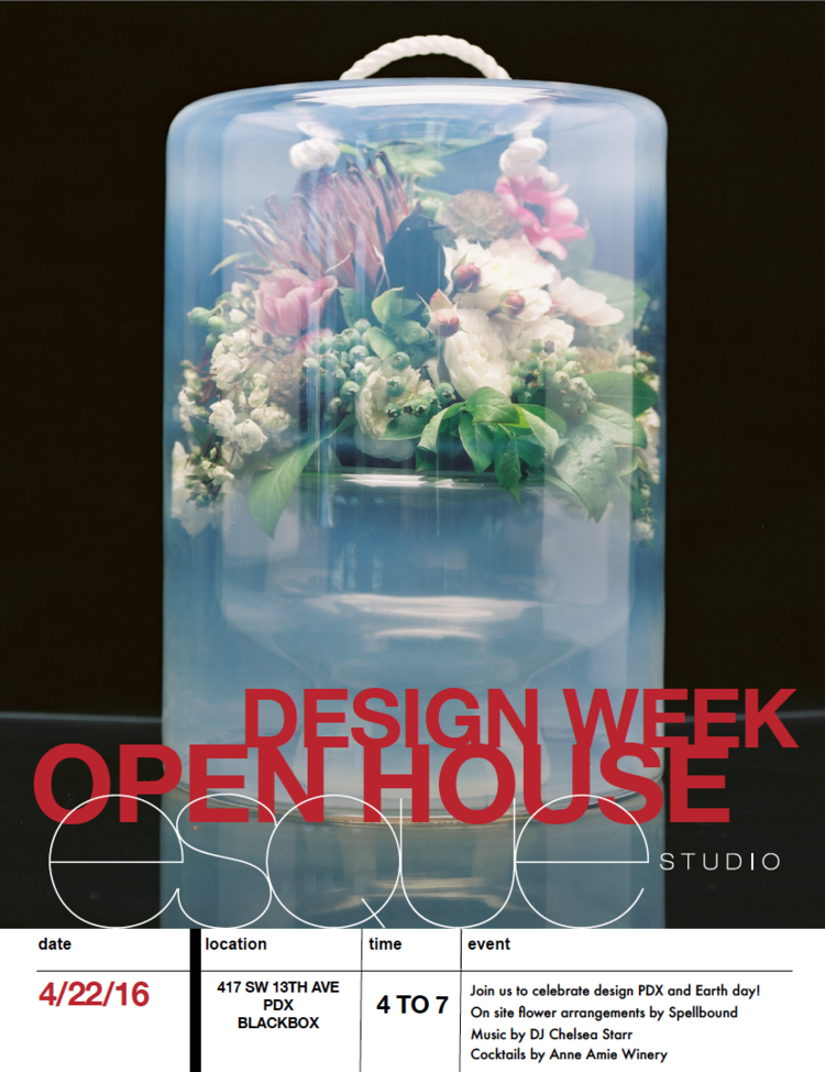 Design Week PDX Open House this Friday! — Esque Studio | Hand blown on friday cartoons, friday quotes, friday humor, friday 12th, friday text, friday meme, friday cat,