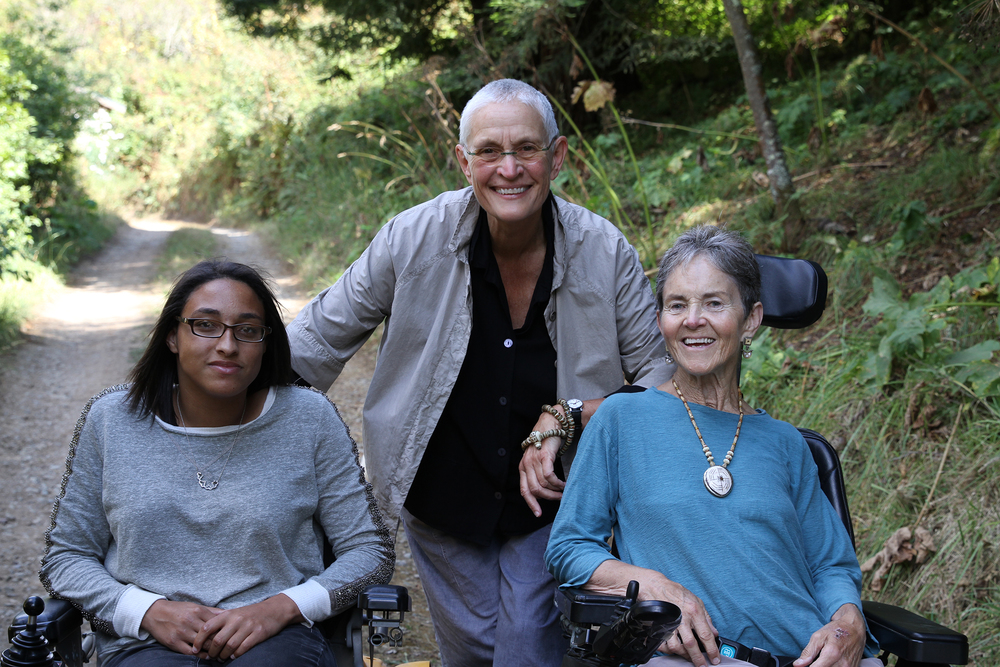 "Dr. Grace Dammann (right), Nancy ""Fu"" Schroeder (center) and their daughter Sabrina. The new feature-length documentary  States of Grace  by filmmakers Helen S. Cohen and Mark Lipman follows the family's profound transformation in the wake of a life-changing accident on the Golden Gate Bridge. Photo credit: Mark Lipman"