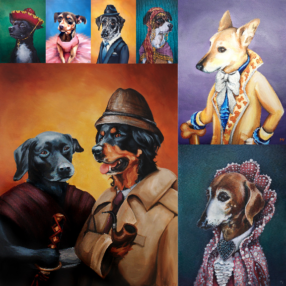 An assortment of Fancy Beast pet portraits to inspire you. -