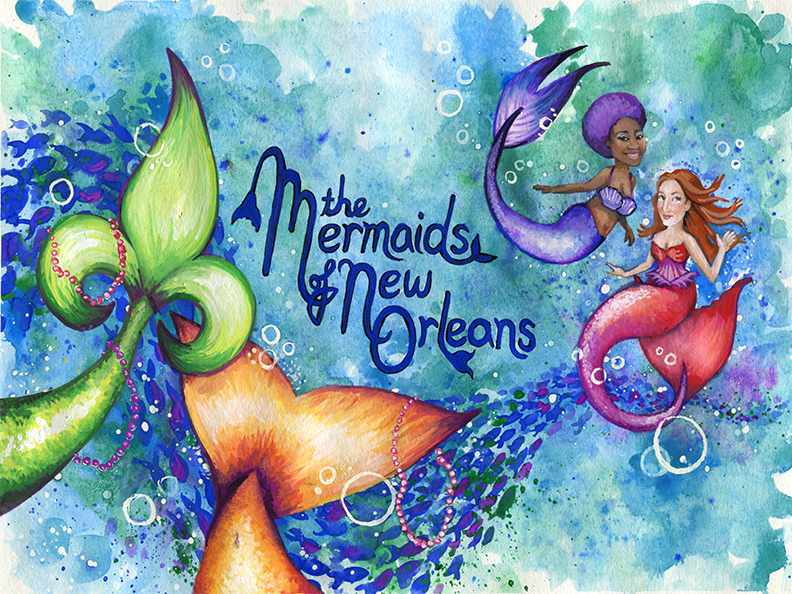 The Mermaids of New Orleans - I have always wanted to illustrate a children's book, and now, thanks to author Sally Asher and University of Louisiana at Lafayette Press, that dream is coming true. The Mermaids of New Orleans will be released November 6th, 2018. Stay tuned!