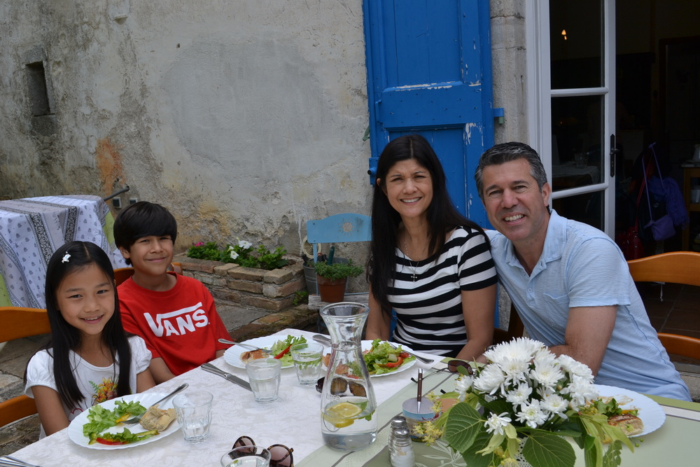 The Awender family enjoys France