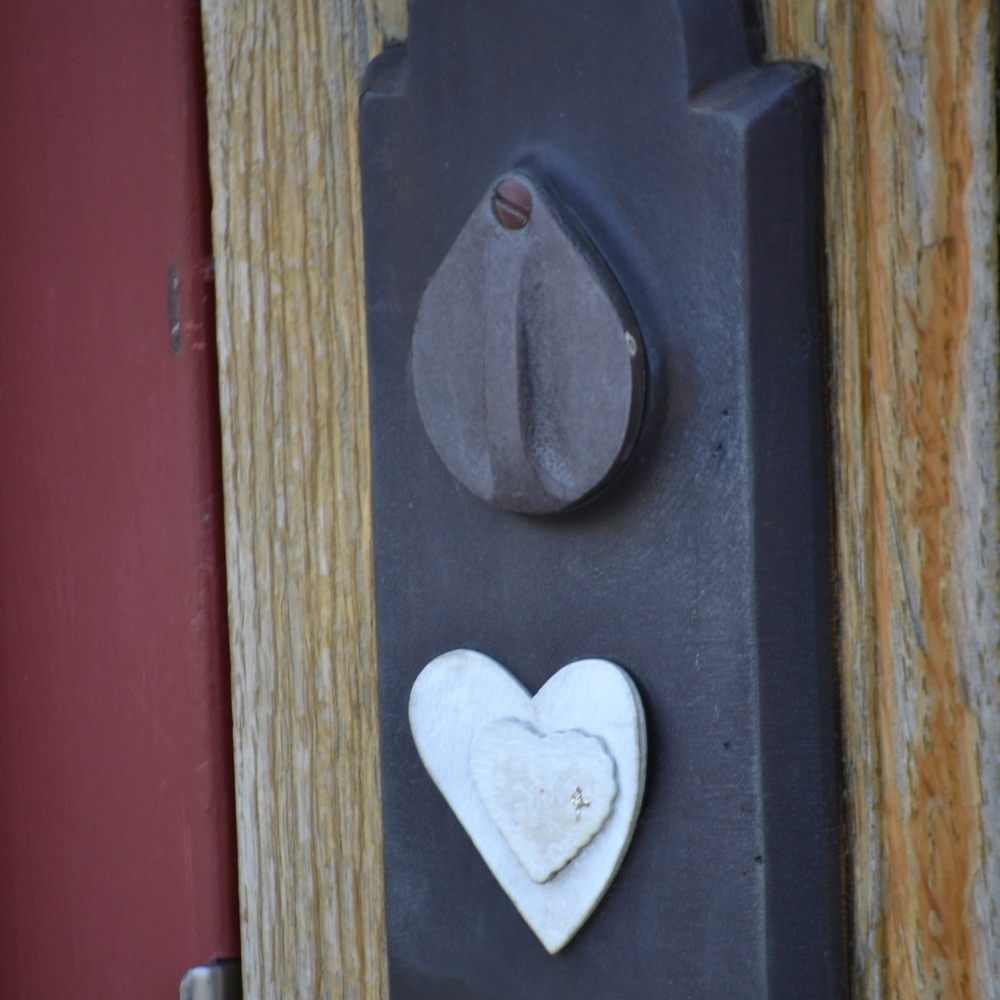 Heart door decoration in Chattanooga, TN