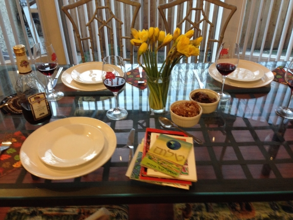 Seder meal - Rudee family