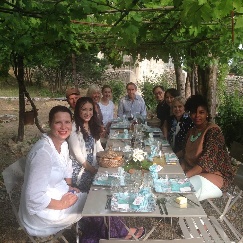 Dinner under the vines