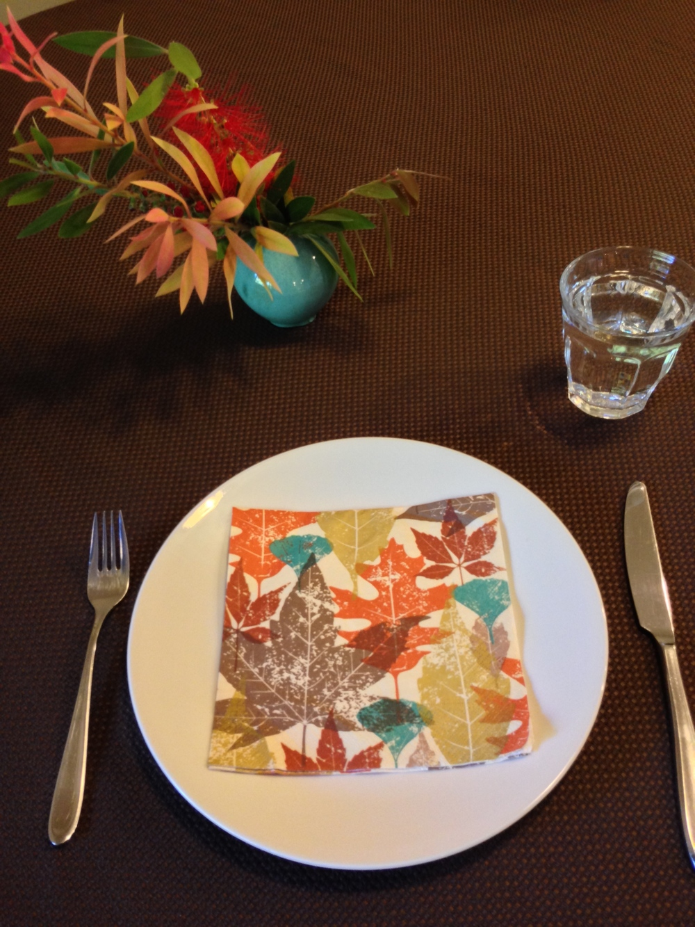 fall napkin adds festive touch