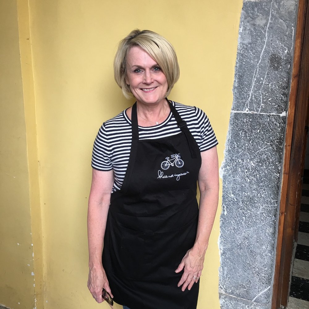 Leigh Anne Wilkes in her apron