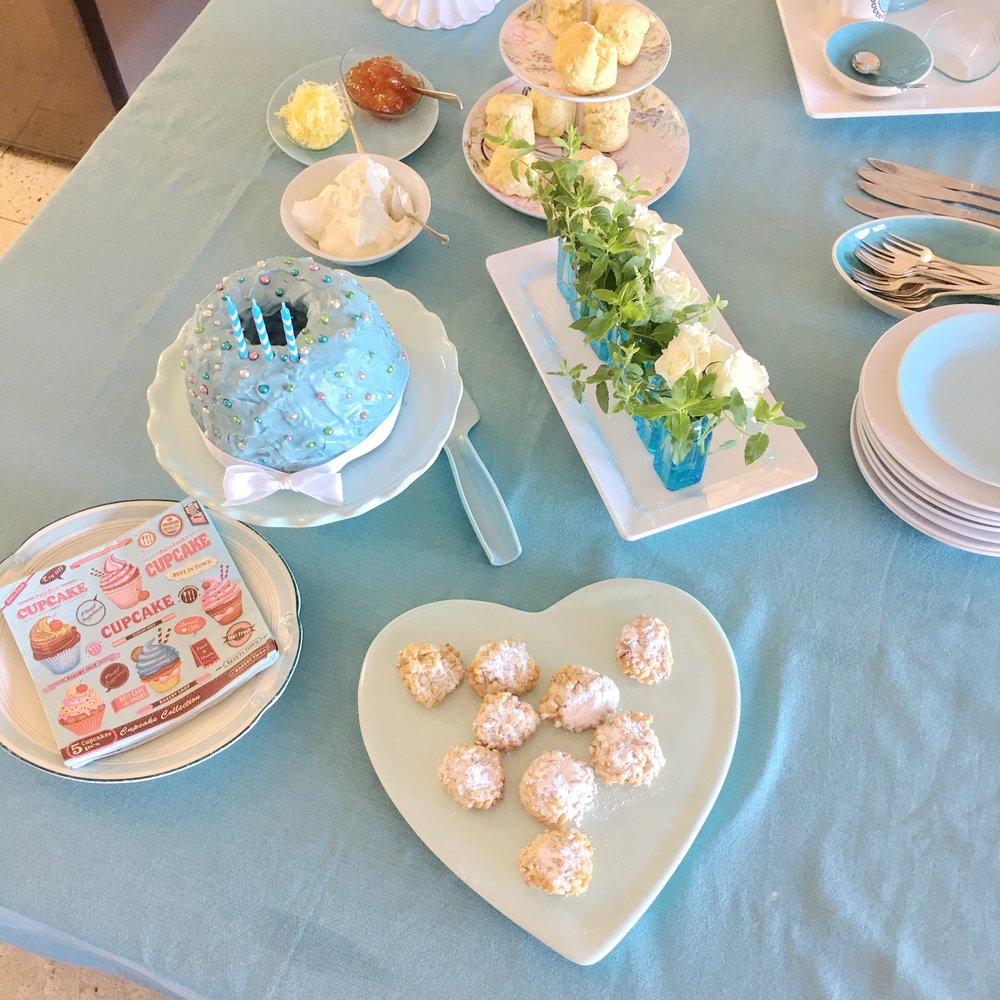 My tea party table setting