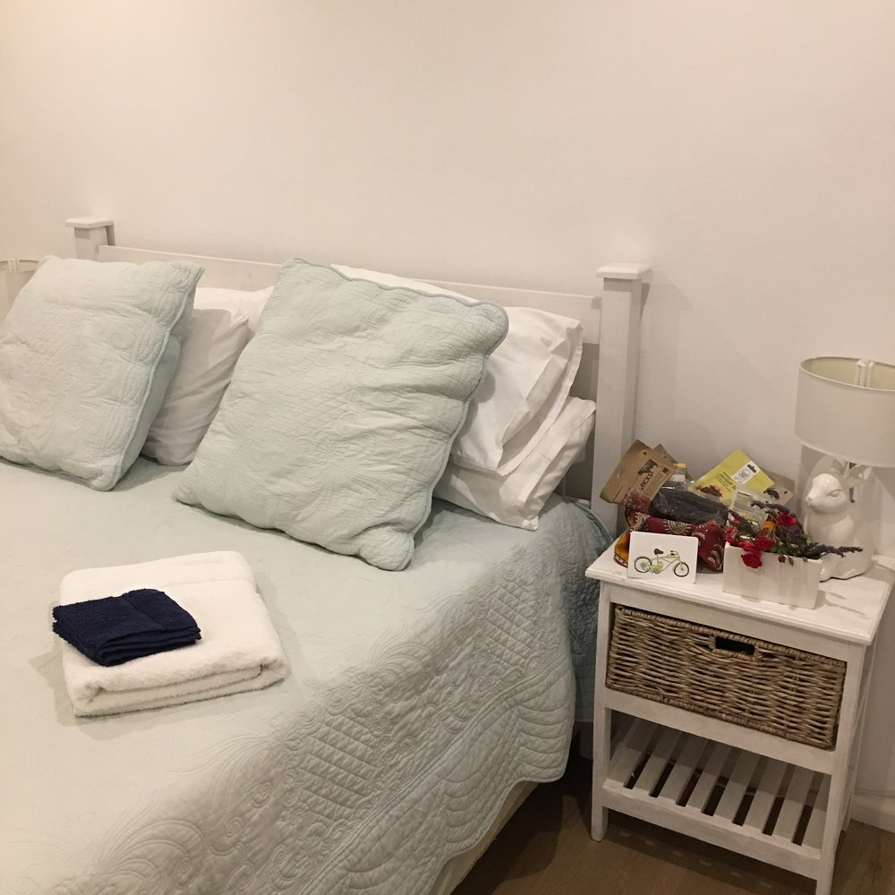 Bedroom ready for guest