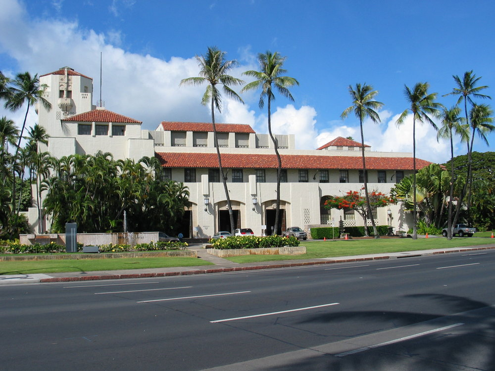 Honolulu Hale. Photo courtesy of Mayor's Office of Culture and the Arts