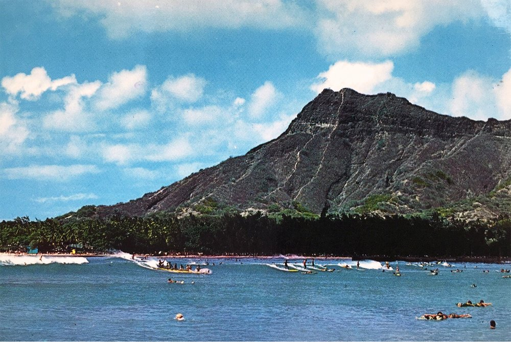 Landmark Looking at Itself in a Mirror, vintage postcard, 2017