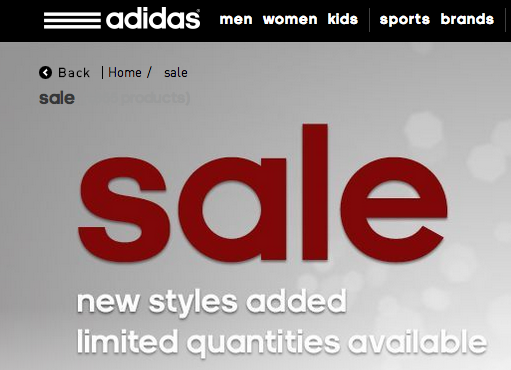 adidas online sale code