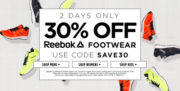 reebok sale coupons