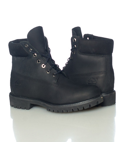 black leather timberland 6 inch boot