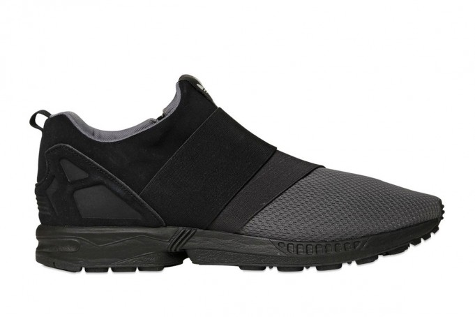 black slip on customize zx flux slip on
