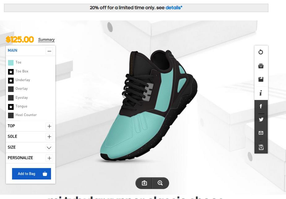create a custom adidas tubular