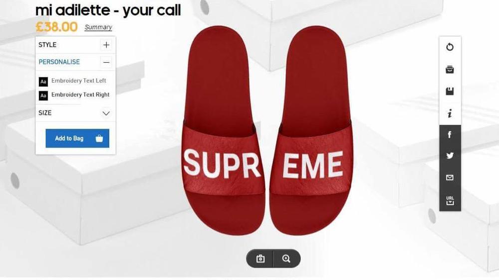 Customize mi adidas Adilette Slides