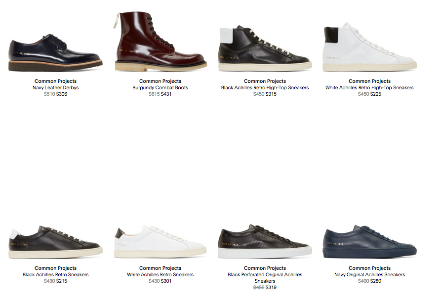common projects under retail!