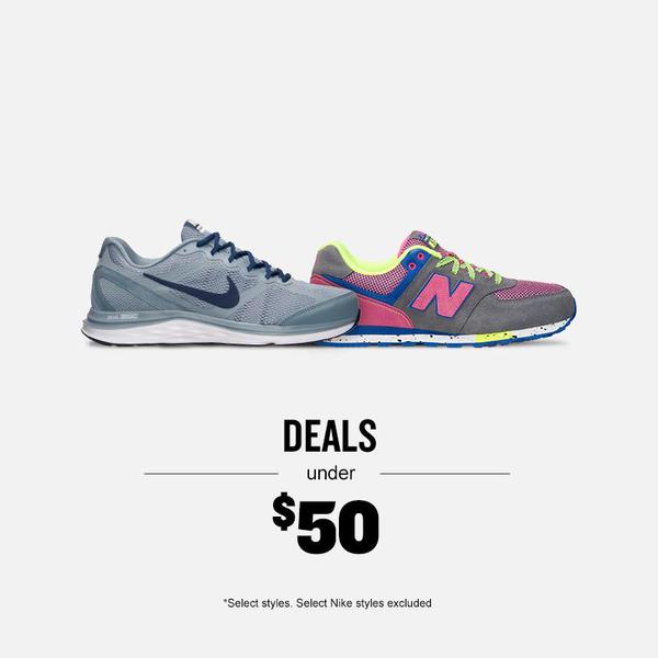 Finishline under $50 sale