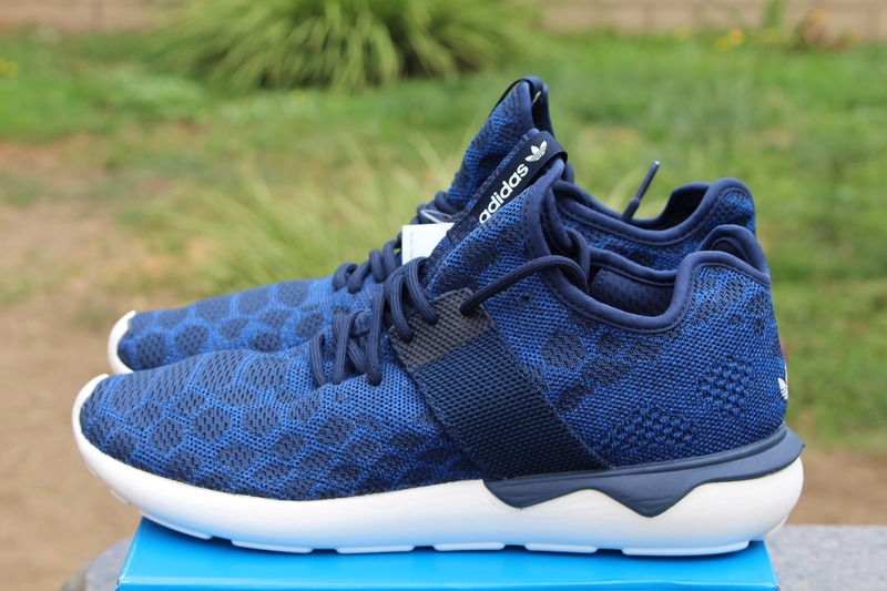 navy adidas tubular primeknit on sale under retail!