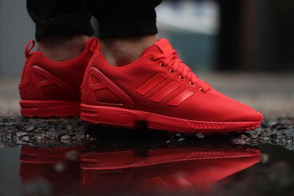adidas red october zx flux on sale!