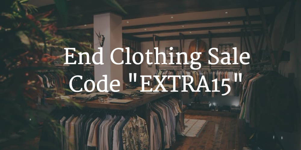end clothing online coupon sale logo website