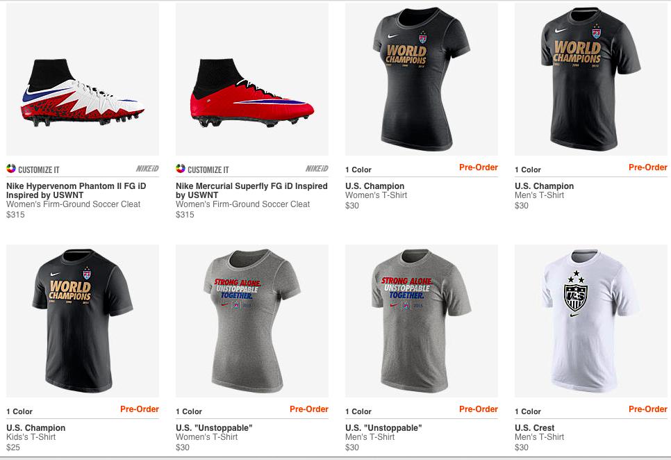 USWNT soccer championship jersey t shirt