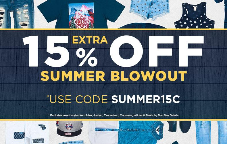Jimmy Jazz 15% off Summer sale!