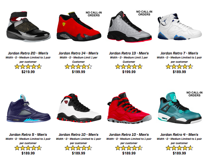 Eastbay Jordan Restock Links And Release Details!