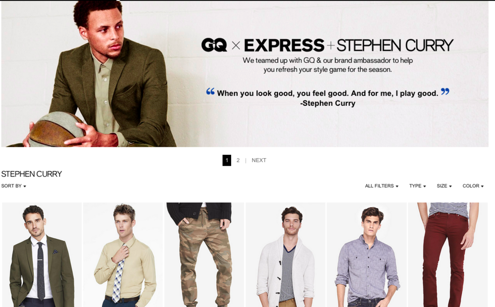 GQ x Express x Stephen Curry Collection Now Available