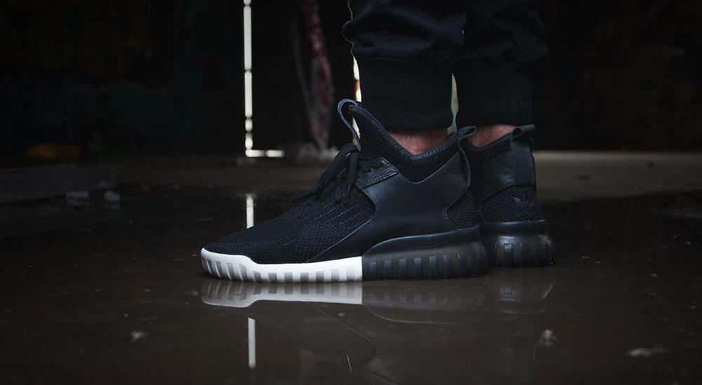 Adidas Tubular X Black On Feet