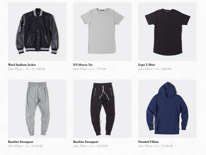 john elliott on sale under retail