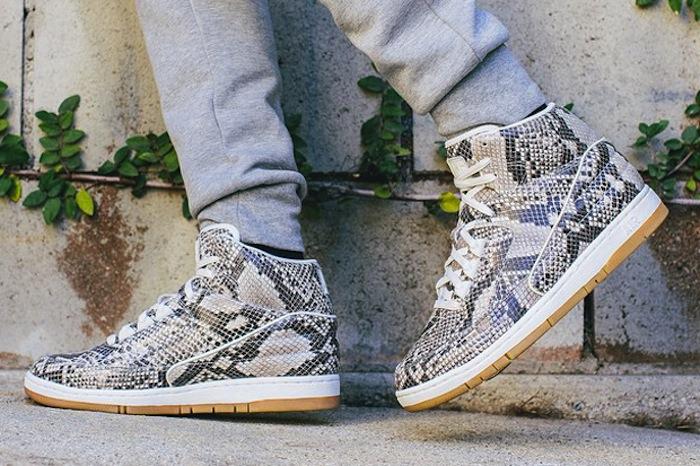 Nike air python snake on foot