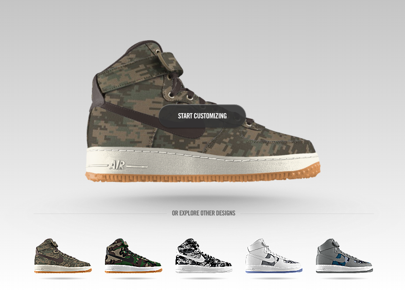 Nike Air force 1 high ID camo